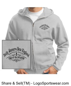 Adult Full-Zip Hooded Sweatshirt Design Zoom